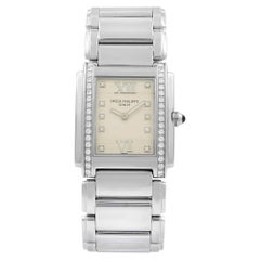 Patek Philippe 24 Diamond Steel Quartz Ladies Watch 4910-10A-011
