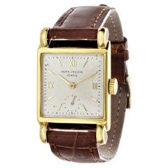 Patek Philippe 2435J Vintage Rectangular Watch, Unusual Large Lugs, Circa 1948