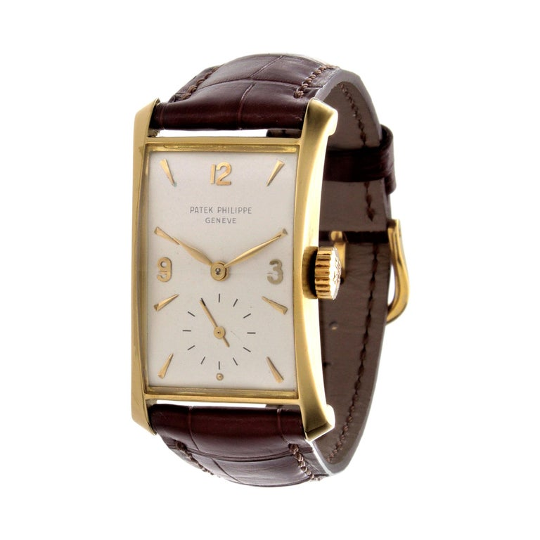 Patek Philippe 2468J Hour Glass Case Watch For Sale