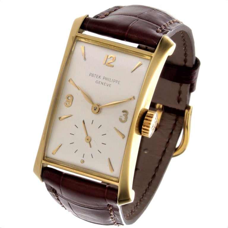Patek Philippe 2468J Hour Glass Case Watch For Sale 3