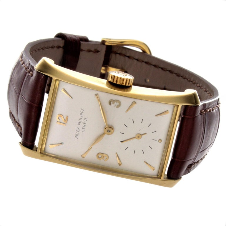 Patek Philippe 2468J Hour Glass Case Watch For Sale 5