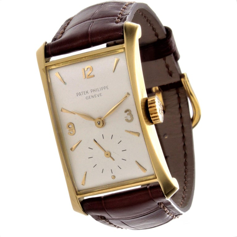 Patek Philippe 2468J Hour Glass Case Watch For Sale 6