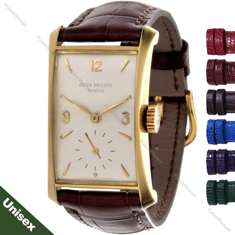 Patek Philippe 2468J Hour Glass Case Watch In Excellent Condition For Sale In Santa Monica, CA