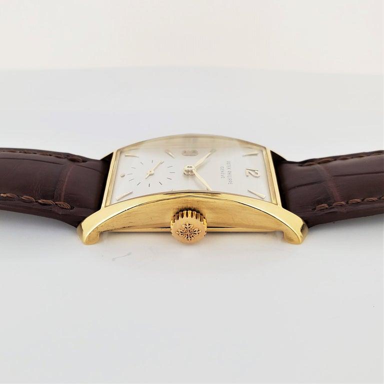 Women's or Men's Patek Philippe 2468J Hour Glass Case Watch For Sale
