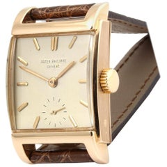 Patek Philippe 2476R Vintage Rose Gold Rectangular Watch, circa 1951
