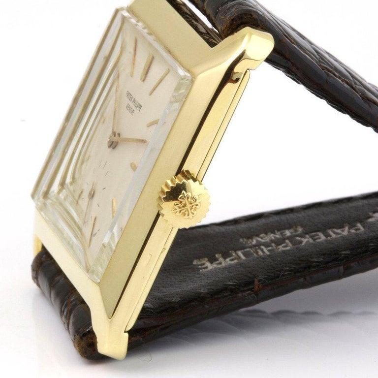 Modern Patek Philippe 2488J Vintage Square Manual Wind Watch, circa 1954 For Sale