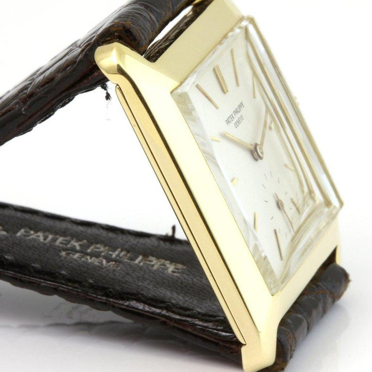 Patek Philippe 2488J Vintage Square Manual Wind Watch, circa 1954 In Excellent Condition For Sale In Santa Monica, CA