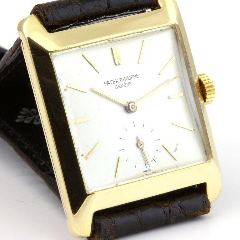 Women's or Men's Patek Philippe 2488J Vintage Square Manual Wind Watch, circa 1954 For Sale