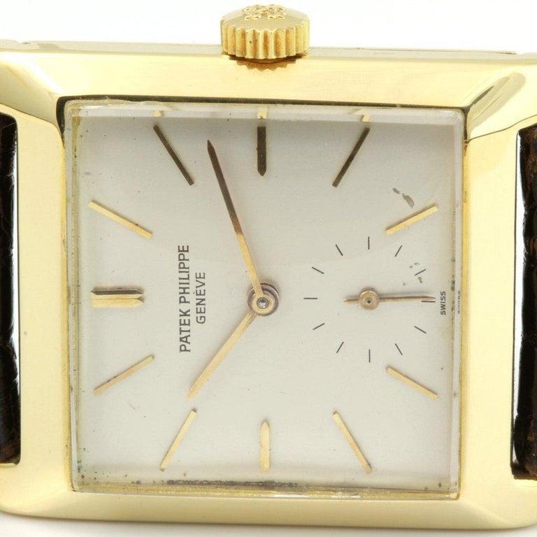 Patek Philippe 2488J Vintage Square Manual Wind Watch, circa 1954 For Sale 1