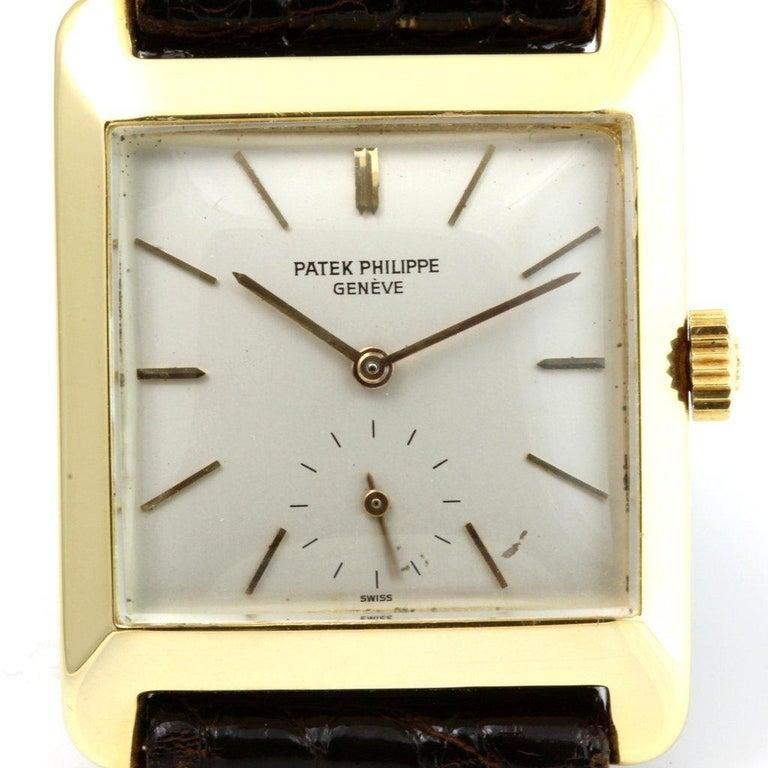 Patek Philippe 2488J Vintage Square Manual Wind Watch, circa 1954 For Sale 2