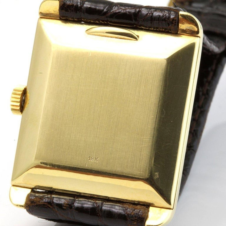 Patek Philippe 2488J Vintage Square Manual Wind Watch, circa 1954 For Sale 3