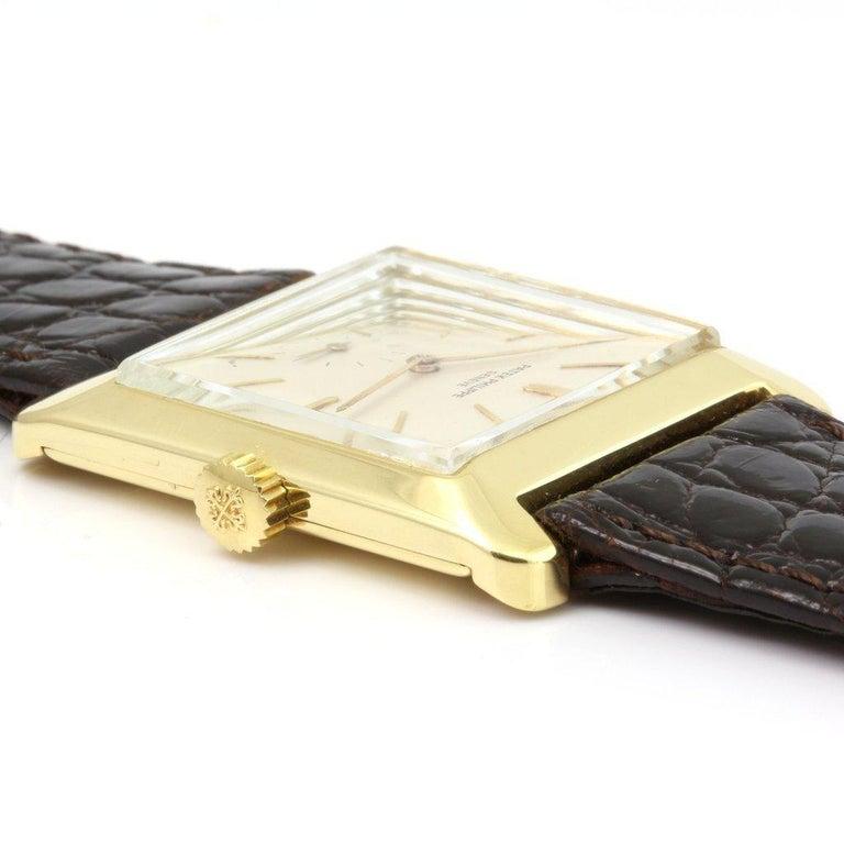 Patek Philippe 2488J Vintage Square Manual Wind Watch, circa 1954 For Sale 4