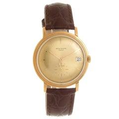Patek Philippe Yellow Gold Calendar Self Winding Wristwatch Ref 3445, circa 1980