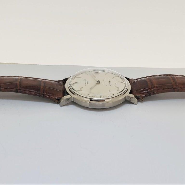 Women's or Men's Patek Philippe 3445G Automatic Calatrava Watch For Sale