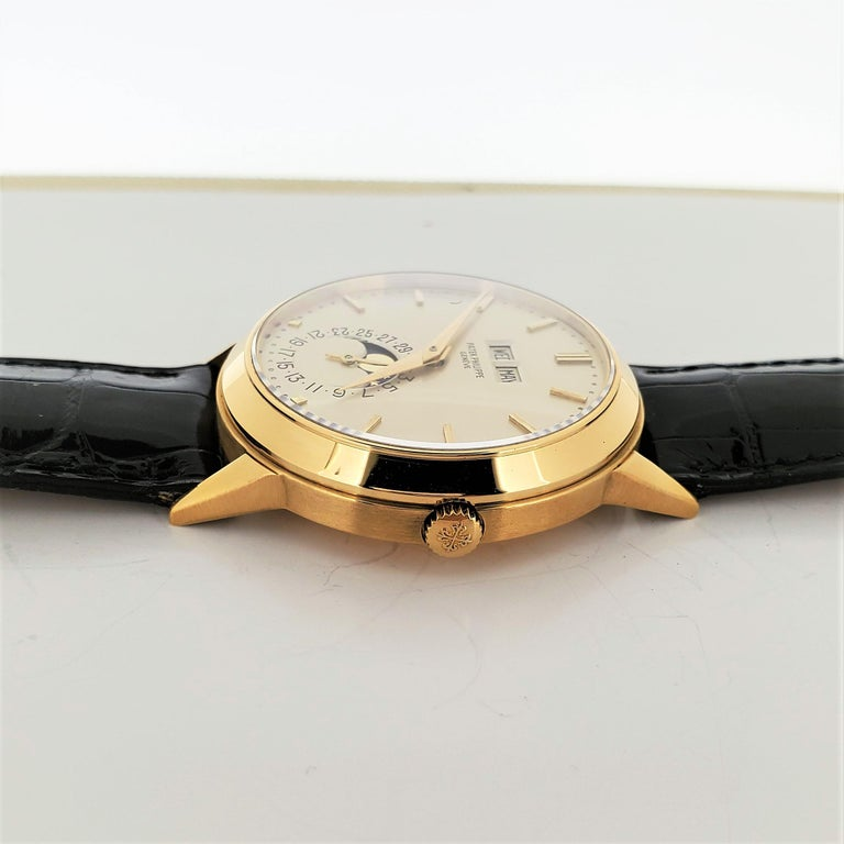 Patek Philippe 3448J Automatic Perpetual Calendar Watch For Sale 5