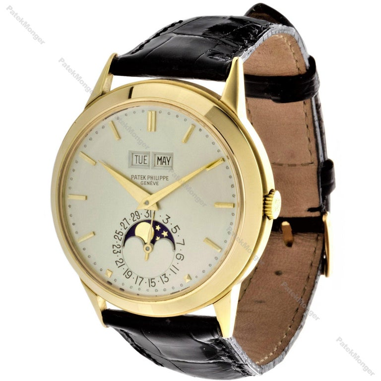 Modern Patek Philippe 3448J Automatic Perpetual Calendar Watch For Sale