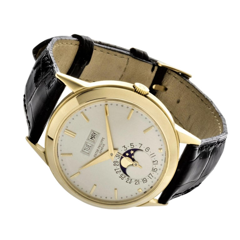 Patek Philippe 3448J Automatic Perpetual Calendar Watch For Sale 1