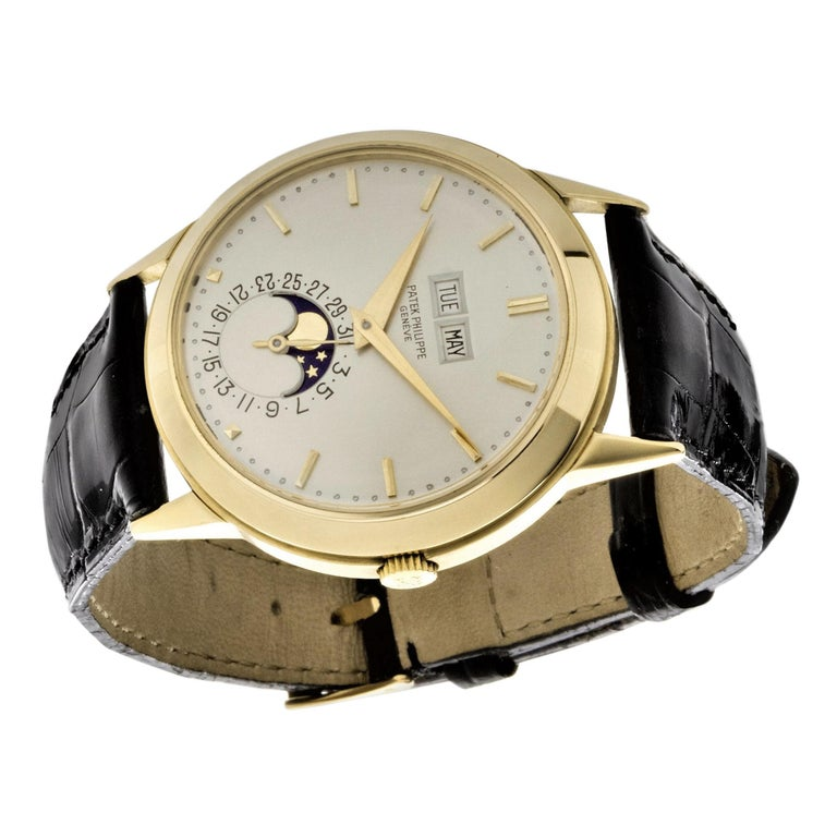 Patek Philippe 3448J Automatic Perpetual Calendar Watch For Sale 2