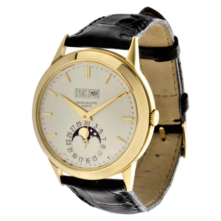 Patek Philippe 3448J Automatic Perpetual Calendar Watch For Sale
