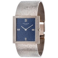 Patek Philippe 3491/3G 18 Karat White Gold Bracelet Watch, circa 1969