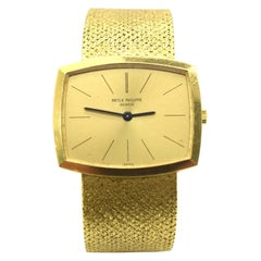 Patek Philippe 3528 18 Karat Gold Winding Men's Vintage Watch