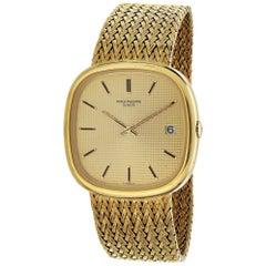 Patek Philippe 3604/2 Cushion Shape Automatic Gold Bracelet Watch, 1977