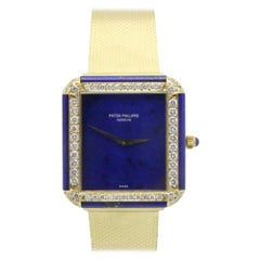 Patek Philippe 3727 18K Yellow Gold Lapis Lazuli Dial Diamonds ARCHIVE PAPERS