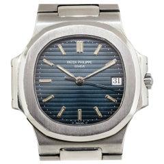Patek Philippe 3800/001 Nautilus Blue Dial Watch