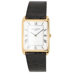 Patek Philippe 3803 Gondolo Rectangular Thin Wristwatch 18K Gold + Certificate