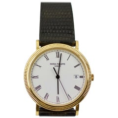 Patek Philippe 3944 Calatrava 18k Yellow Gold Quartz Watch with Original Strap