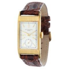"Patek Philippe 425J ""Tegolino"" Vintage Art Deco Watch in Yellow Gold, Circa 1940"