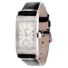 Patek Philippe 425P Tegolino Platinum Art Deco Watch Circa 1937