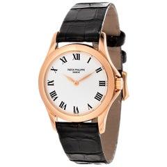Patek Philippe 4905R Rose Gold Manual Wind Water Resistant Calatrava Watch
