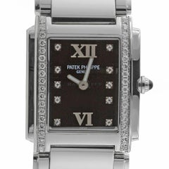 Patek Philippe 4910/10A-001 Twenty-4 4910 Black Diamond Dial Quartz Ladies Watch
