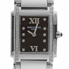 Patek Philippe 4910/10A-001 Twenty-4 4910 Black Diamond Dial Quartz Ladies Watch
