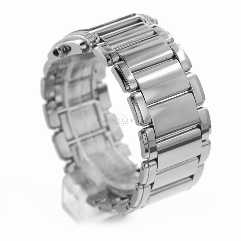 Patek Philippe 4910/10A-011 Steel Twenty-4 Diamond 24 4910 Quartz Ladies Watch For Sale 1
