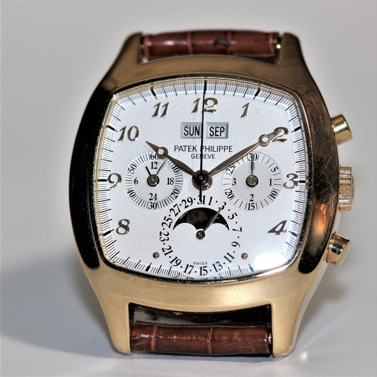 Modern Patek Philippe 5020J Perpetual Calendar Chronograph Watch 'TV Screen' For Sale