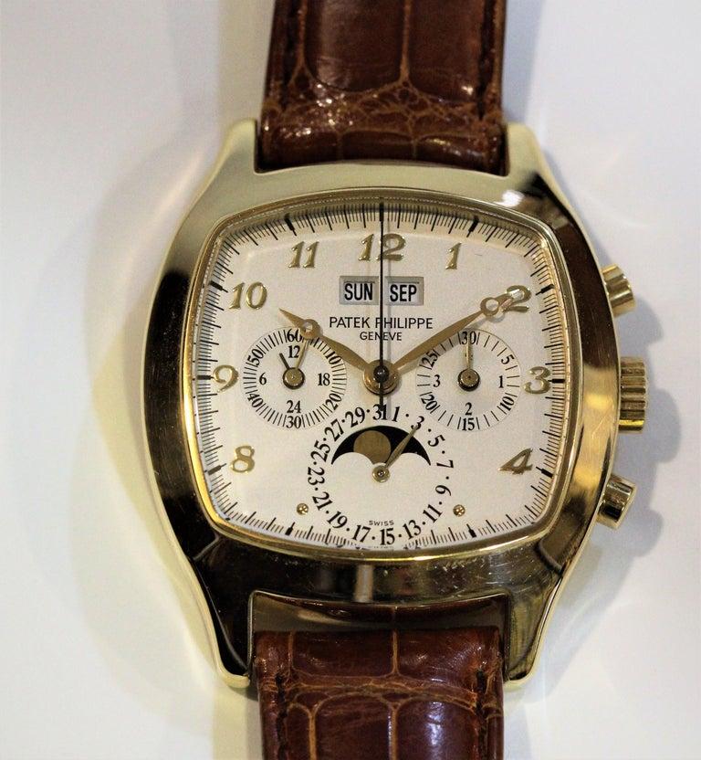 Patek Philippe 5020J Perpetual Calendar Chronograph Watch 'TV Screen' For Sale 4