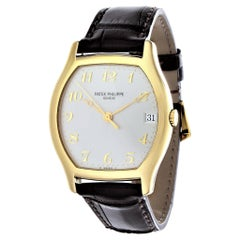 Patek Philippe 5030J Yellow Gold Automatic Tonneau Shape Watch, Circa 1995