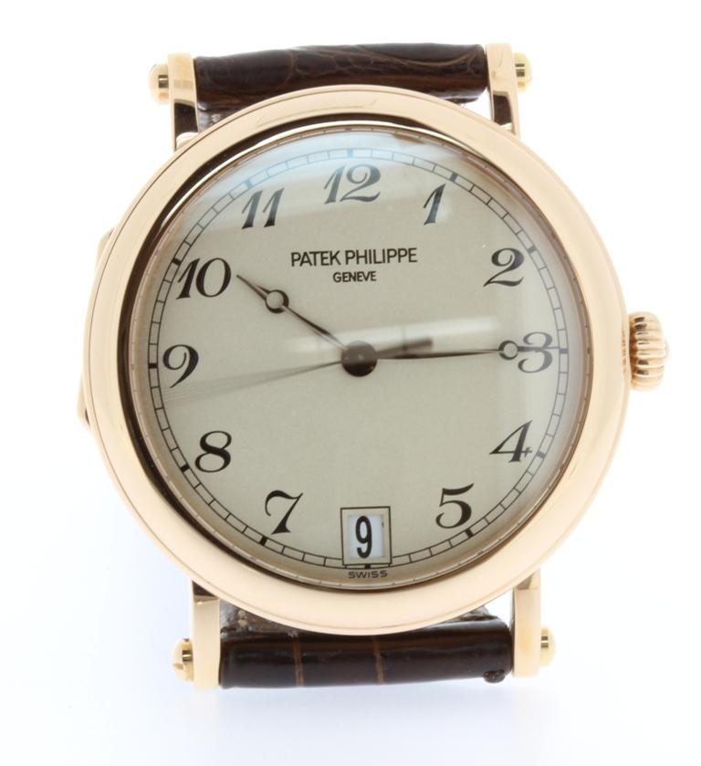 Patek Philippe 5053R Automatic Officers Case Watch, circa 2006 For Sale 1