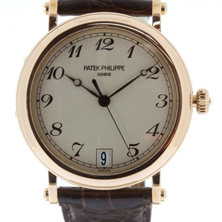 Patek Philippe 5053R Automatic Officers Case Watch, circa 2006 For Sale