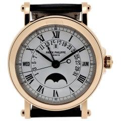 Patek Philippe 5059R  Perpetual Calendar Retrograde Date Officers Case Watch