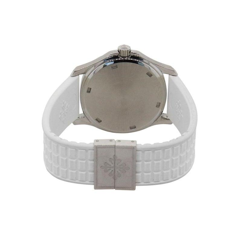 Round Cut Patek Philippe 5067A-001 Aquanaut Luce Wristwatch For Sale