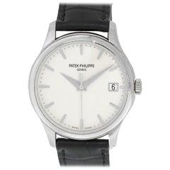 Patek Philippe 5127G Calatrava 18 Karat White Gold Eggshell Dial Watch