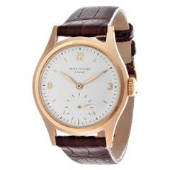 Patek Philippe 565R Vintage Water Resistant Calatrava Rose Gold Watch Circa 1949