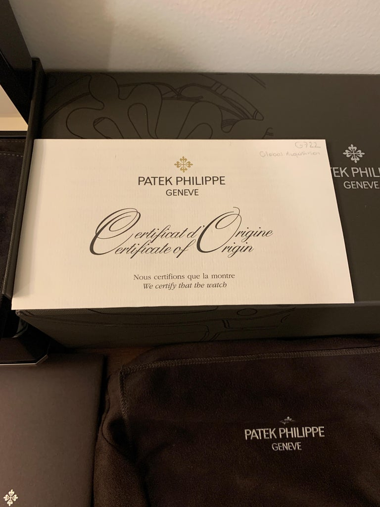 Patek Philippe 5726 Nautilus Steel Annual Calendar Watch Black Dial Box / Papers In Excellent Condition For Sale In West Hollywood, CA