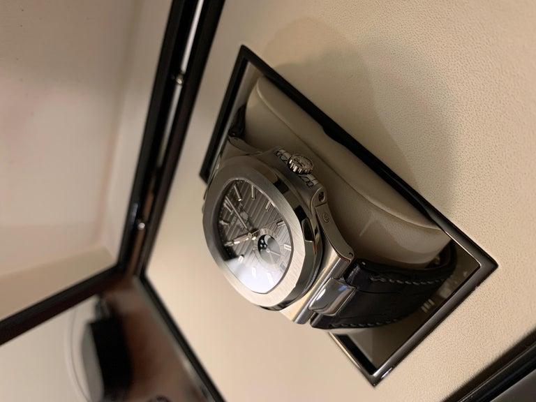 Patek Philippe 5726 Nautilus Steel Annual Calendar Watch Black Dial Box / Papers For Sale 3