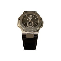Patek Philippe 5726 Nautilus Steel Annual Calendar Watch Black Dial Box / Papers
