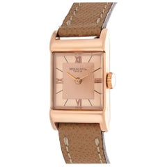 Patek Philippe 583R Vintage Rose Gold Rectangular Watch, circa 1943
