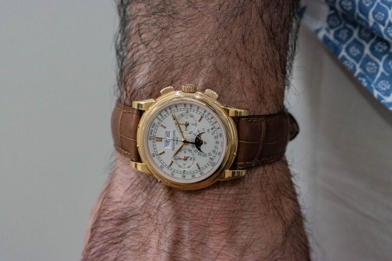 Men's Patek Philippe 5970R Grand Complications Perpetual Calendar Chronograph Watch For Sale